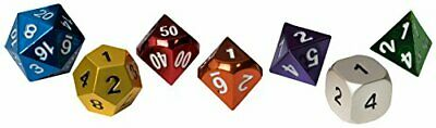 Blackfire Dice - Metal Dice Set - Dice Gem Box (7 Dice)