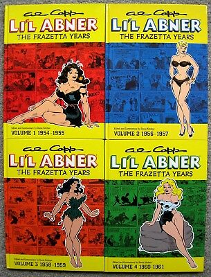 Al Capp LI'L ABNER The Frazetta Years HC Book Set Vol 1-4 1ST EDITION Comic VF