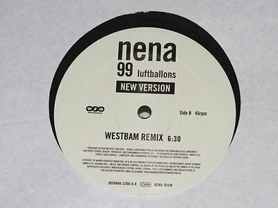 Nena - 99 Luftballons New Version +Vinyl+ Westbam Remix Schallplatte