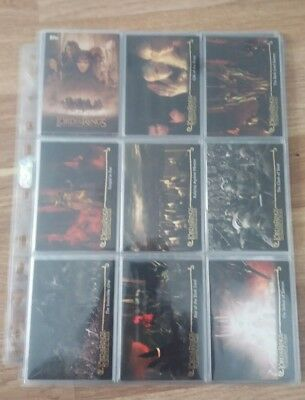 Lord of the Rings Fellowship of the Ring Topps Trading Cards Complete Update Set