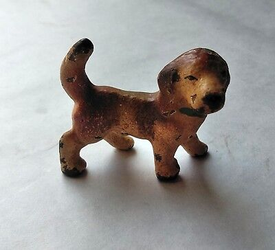 Vintage Small Cast Iron Beagle Dog Figurine Paperweight USA Hubley c1930s