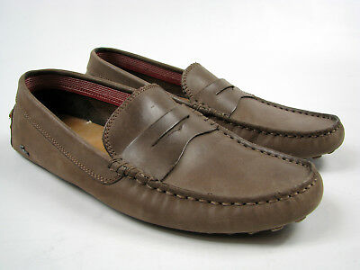 a6e409029 LACOSTE CONCOURS 16 Mens Casual Moccasins Brown Leather Loafers Shoes Sz US  9 -  49.99