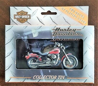 Harley-Davidson Motorcycles Collectible Tin And Playing Cards (2 Decks)