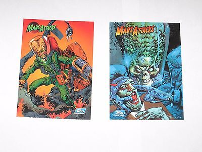 1994 Mars Attacks Archives Promo Topps Card Set! #p1 And Unnumbered! No #!