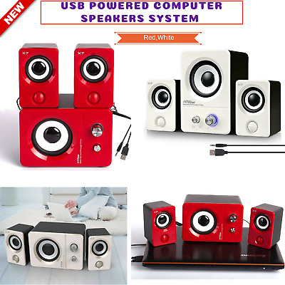 2.1 Bass Subwoofer Multimedia Speaker System Computer Laptop PC Desktop Speakers