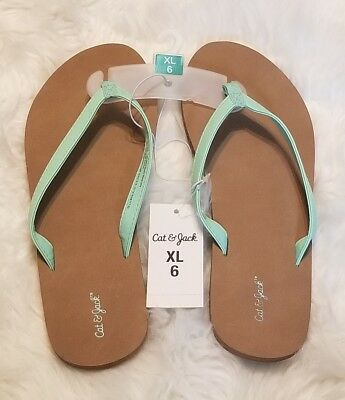 f717f328fdfb CAT   JACK Big Girls Flip-flop Sandals Size XL 6 NWT -  14.77