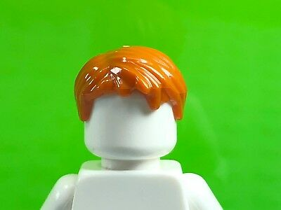 Lego Male Minifig Wig x 4 Medium Nougat Short Tousled Hair with Side Parting