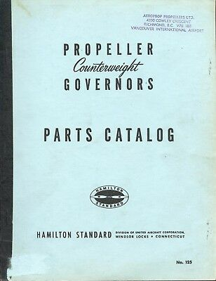 COUNTERWEIGHT PROPELLER GOVERNORS PARTS CATALOG No. 125 - HAMILTON STANDARD