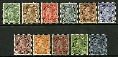 Turks & Caicos Islands  1928  Scott # 60-70  Mint Never Hinged to LH Set