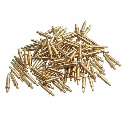 100 Piece Gold Plated Spring Probe Pogo Pin Connector 2.0mm Pin Head