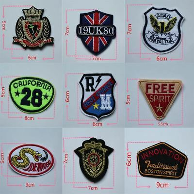1PCS Personality Icon sell fashion style hot melt adhesive applique embroidery p