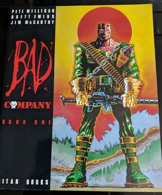 2000AD Bad Company BOOK ONE 1 COMIC (Titan Books) 1987 JUDGE DREAD MINT COPY NEW