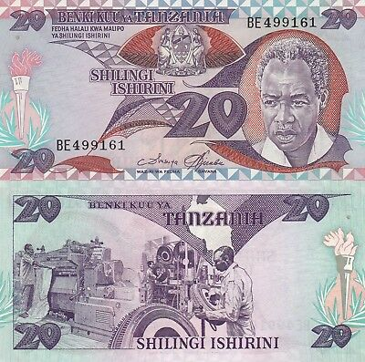 Tanzania 20 Shillings (ND/1985) - Nyerere/Factory Workers/p9 UNC