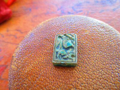 Ancient Egyptian Tablet Amulet  Authentic Antiquity
