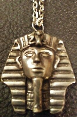 Pewter Pharaoh Pendent & Chain- Occult- Ancient Aliens