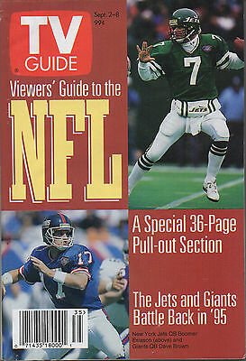 1995 TV GUIDE Viewers' Guide to NFL A Special 36-Page Pull-out Section NO LABEL