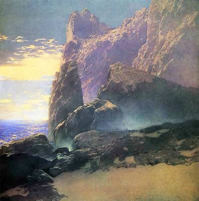 The Sea, Cliffs  by Maxfield Parrish