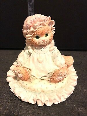 "Calico Kitten Figure "" Just Thinking About You"""