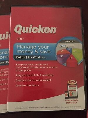 New Intuit Quicken Deluxe 2017 Windows Pc Manage Your Money Banking Software