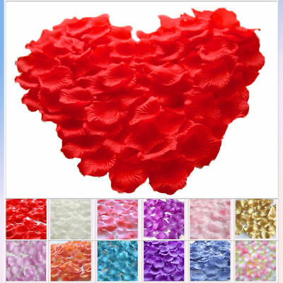 400Pcs Silk Rose Petals Wedding Party Flower Decor Confetti Engagement Table