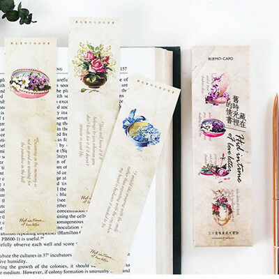 30pcs/Box Old Time Love Letter Bookmark Book Mark Magazine Note Label Memo Gifts