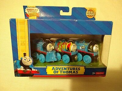 Thomas And Friends Wooden Railway Adventures Of Thomas 3 Wood Train Pack Y4102