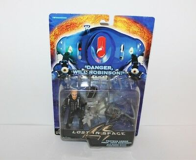 """Lost In Space Proteus Armor Prof. John Robinson Action Figure 1997 4 1/2"""" New"""