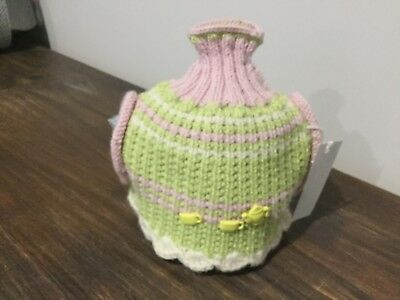 Multi Coloured Hand Knitted Tea Pot Cosy To Fit 4 Cup Pot, New ,(7/45)