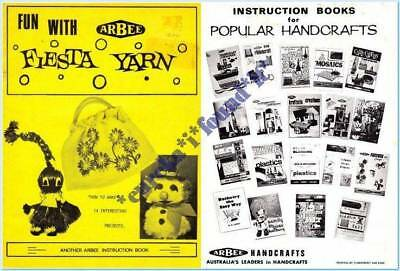 ARBEE VINTAGE CRAFT BOOK FUN WITH FIESTA YARN : 14 PROJECTS : circa 1960's