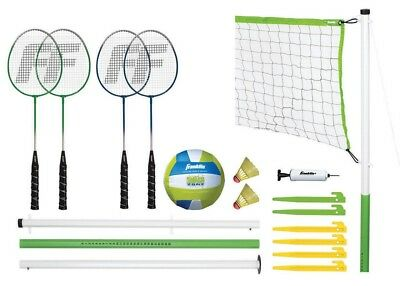 Franklin Sports Intermediate Badminton Volleyball Combo Set Exercise Fun Game