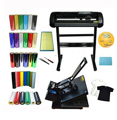 Heat Press Vinyl Cutting Plotter Software T-shirt CD Foil Film Transfer Start-up