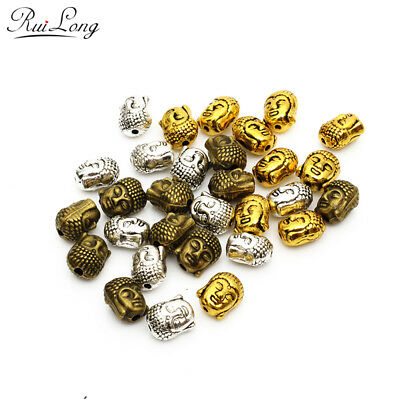 10pcs/lot Fashion Antique bronze Silver gold-color Plated alloy Buddha head Bead