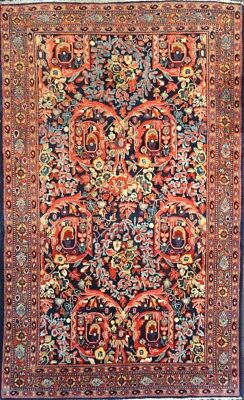 """C 1930 Sultanabad Meyghan Antique Persian Exquisite Hand Made Rug 4' 4"""" x 6' 11"""""""
