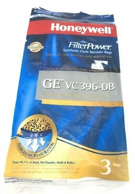 Honeywell FilterPower Synthetic Cloth Vacuum Bags - GE VC 396-DB Canister 3pk