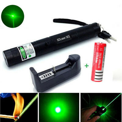 Green SD 301 Laser Pointer Powerful Hunting Laser Bore Sighter+Battery+ Chagrer
