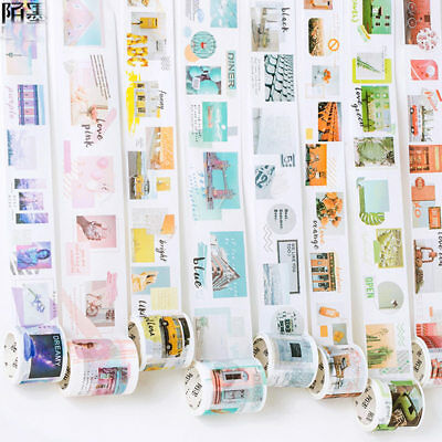 DIY Roll Tape Sticker Decor Masking Self Adhesive Washi Paper With Gift Box