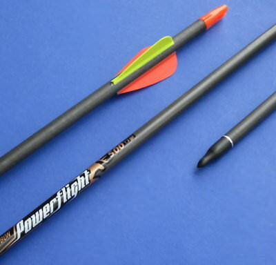 "6 Carbon-Pfeile EASTON POWER FLIGHT ""SPEED"",Typ 500, 400 oder 340"