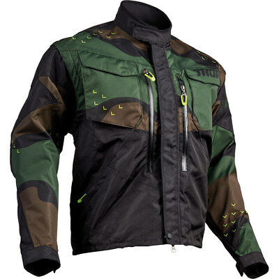 NEW Thor 2019 Terrain Green Army Camo Adult Offroad Riding Adventure Jacket