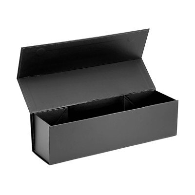 Rigid Folding Magnetic Luxury Gift Hamper Box Matte Single Wine - Black 20 Pack