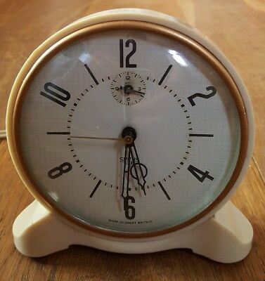 Vintage Smiths Sectric Electric White Alarm Clock
