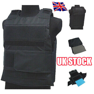 Tactical Wargame AirSoft Paintball BB Bulletproof Armour Plate Stab Proof Vest L