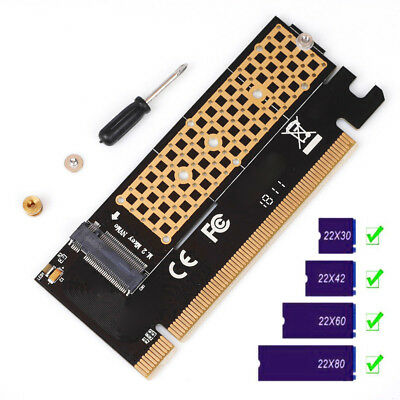 Pro M.2 NVMe SSD NGFF To PCIE  X16 X4 Adapter M Key Interface Card Full Speed .