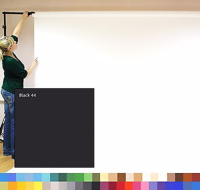BLACK (2.72m x 11m) SEAMLESS PHOTOGRAPHY BACKGROUND PAPER ROLL