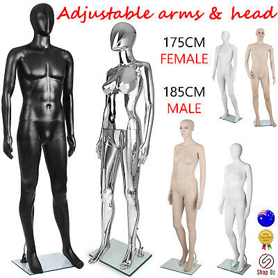 New MALE FEMALE ADJUSTABLE DRESSMAKING MANNEQUIN Clothes Dress Full Body Manikin