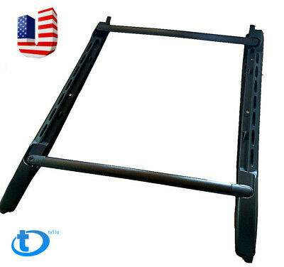 2005-18 For Toyota Tacoma Double Cab Black Stowaway Roof Rack Cross Bar