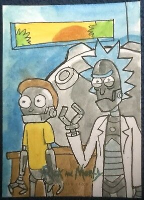 2018 Cryptozoic Rick and Morty Season 1 SKETCH CARD SIGNED 1/1