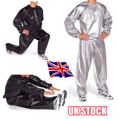 Heavy Duty Sweat Sauna Suit Gym Exercise Training Fitness Weight Loss Anti-R L1