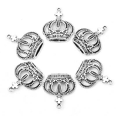 20pcs/lot zinc alloy antique vintage silver plated Crown charm pendants for DIY
