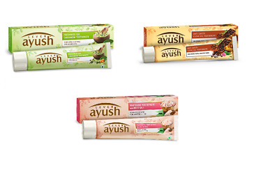 Lever Ayush Ayurvedic Toothpaste Herbal Flavours Rock salt, Cardamom, Clove oil