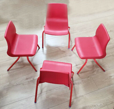 4 X Metalliform Home/Garden Np Chairs Red & Blue   (02-06 Years)
